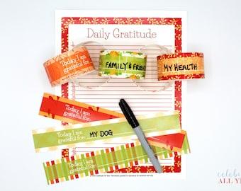 30 Days of Gratitude Paper Chain