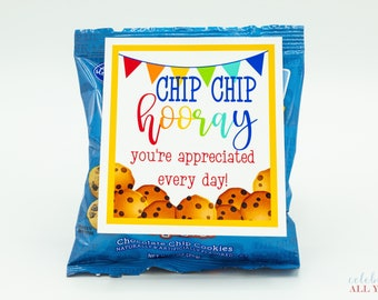 Chip Chip Hooray Cookie Gift Tags