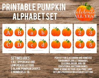 Printable Pumpkin  Alphabet Set