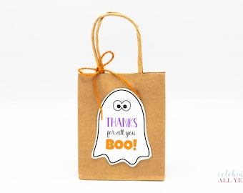 Thanks for All You Boo! Halloween Gift Tags