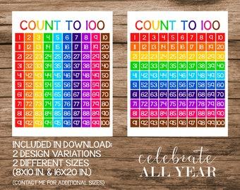 Printable 100 Charts
