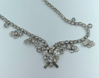 Crystal butterfly bib necklace - bridesmaid, prom, sweetheart dance