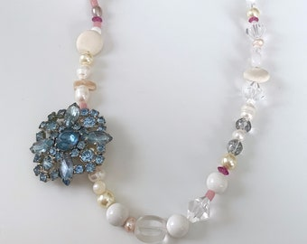 Modern Strand of Pearls - blue, pink, lavender, iris