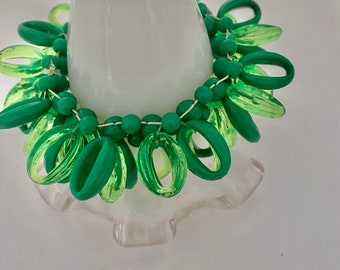 one-of-a-kind stunning green statement beaded bracelet