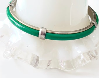 vintage cool - green and metal bracelet