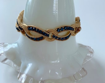 Crown Trifari sapphire and gold bracelet