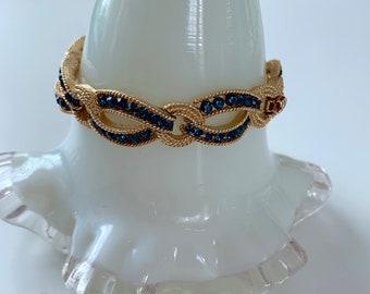 Crown Trifari sapphire and gold bracelet