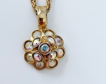 4a56b9e037e bijoux cascio signed opalescent and goldtone necklace