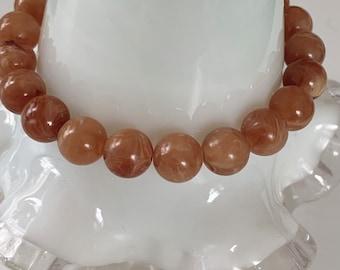 Beaded elastic / stretch stone bracelet