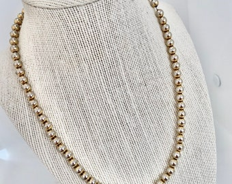 classic vintage silver gold bead necklace