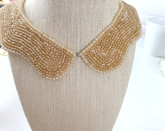 1940s silk and seed bead collar from Japan