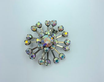 starburst sparkle crystal brooch