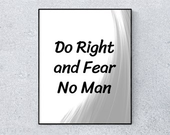 No Fear Quote Poster Etsy