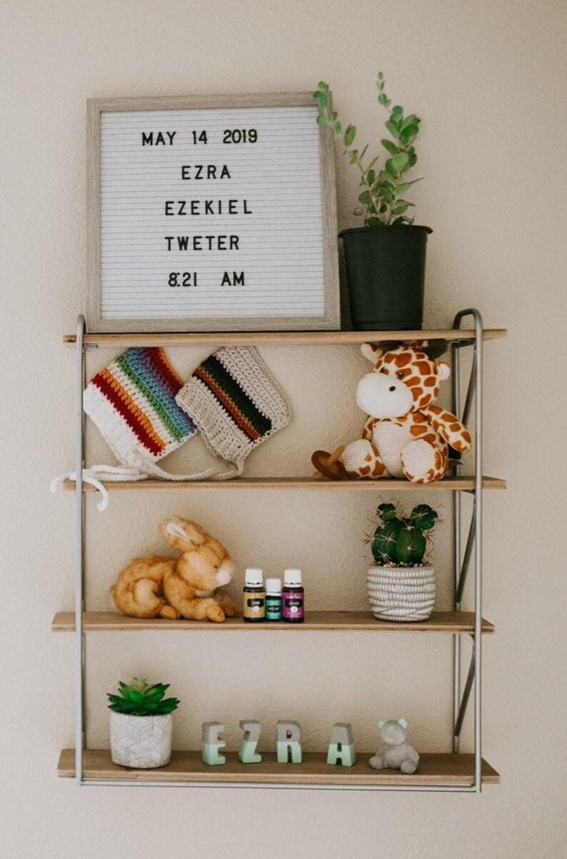 Custom Nursery Name Dipped Concrete Letters Boho Nursery Etsy