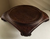 Large Old Chinese Hand Carved Rosewood Pedestal Stand Republic 71 2 x 7 x 1 1 2