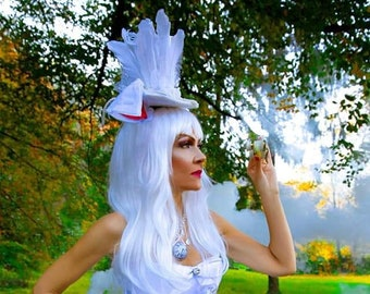 bfd9530b324b White Rabbit Alice In Wonderland Costume Cosplay Womans Festive Party Outfit