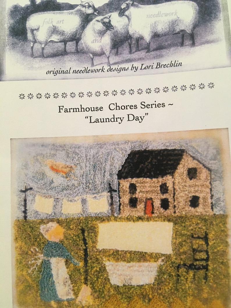 Laundry Day Needle Punch Pattern by Notforgotten Farm