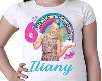 JoJo Siwa Birthday Shirt Jojo Rainbow Unicorn Dream Crazy Big