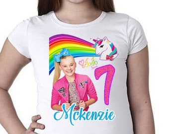 JoJo Siwa Birthday Shirt Jojo Rainbow Unicorn