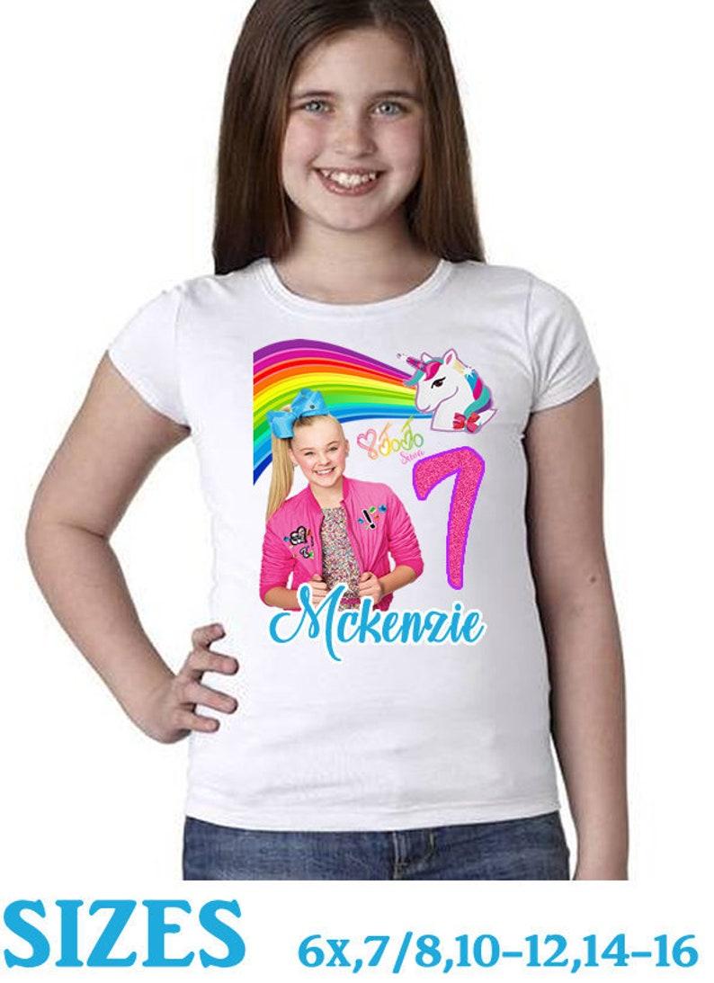 bd97e34897f3 JoJo Siwa Birthday Shirt Jojo Birthday Rainbow Unicorn | Etsy