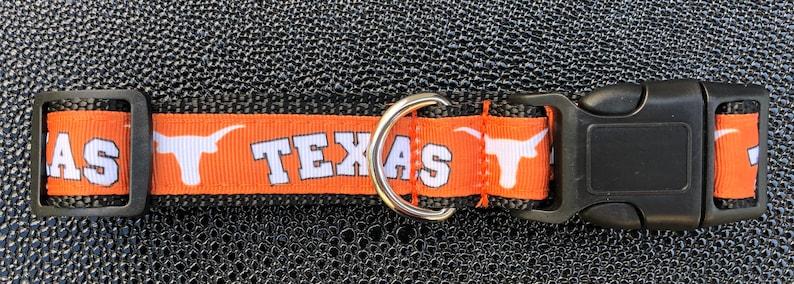 Texas Longhorns Inspired Dog Collar