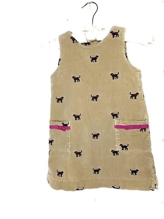 Puppy Dog Corduroy winter dress size