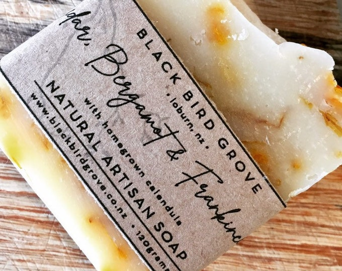 Featured listing image: Lux Artisan Soap - cedar, bergamot and frankincense