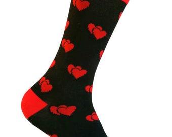 73886b23335 Valentine s Day Red Heart Pattern Dress Socks