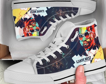 a89e7e1875b5 Kanye West Custom Hightop Shoes