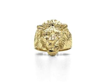 91e3b029d1b3c Lions head ring | Etsy
