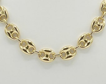 c1c00cca591ce4 Puffed Mariner Anchor Link Necklace