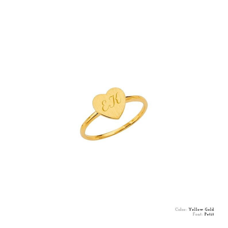 Free Laser Engraving Plain Heart Ring