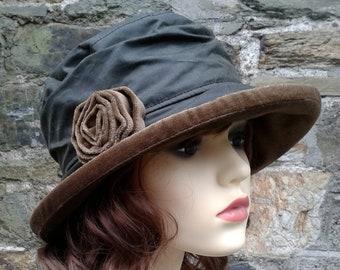 d3b82df7513 Olive and green ladies waterproof rain hat