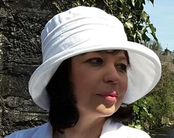 c411f964bee Linen sun hat