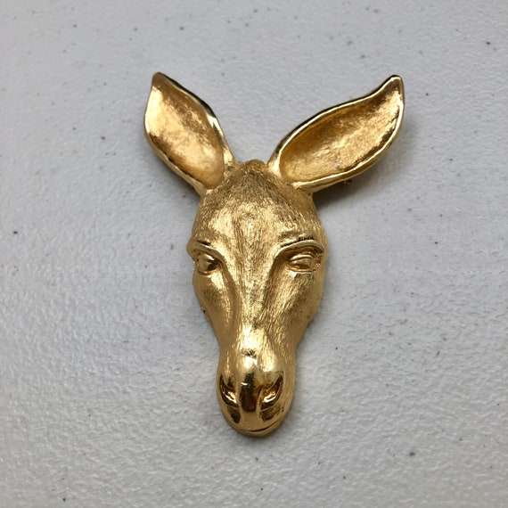 Vintage and Rare Napier Donkey Brooch