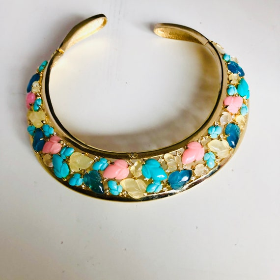 Vintage Fruit Salad Collar Necklace Collar Necklac