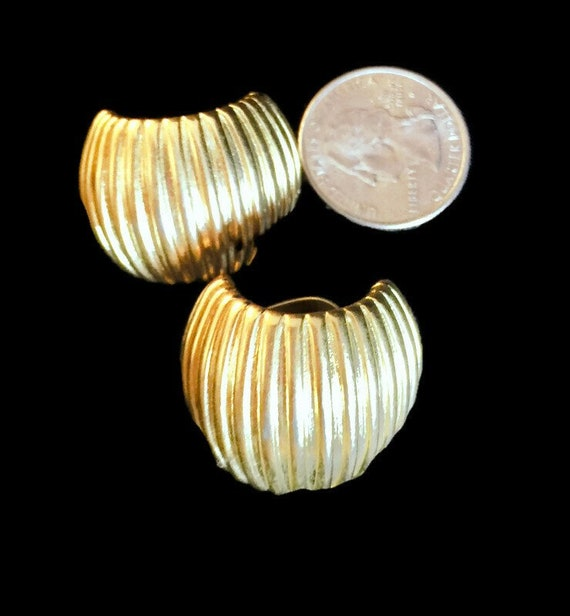 Vintage Givenchy Half Hoop Gold Earrings