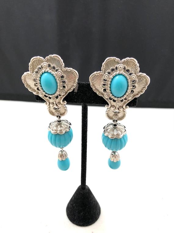 Vintage Kenneth Lane Avon Chandelier Clip Earrings