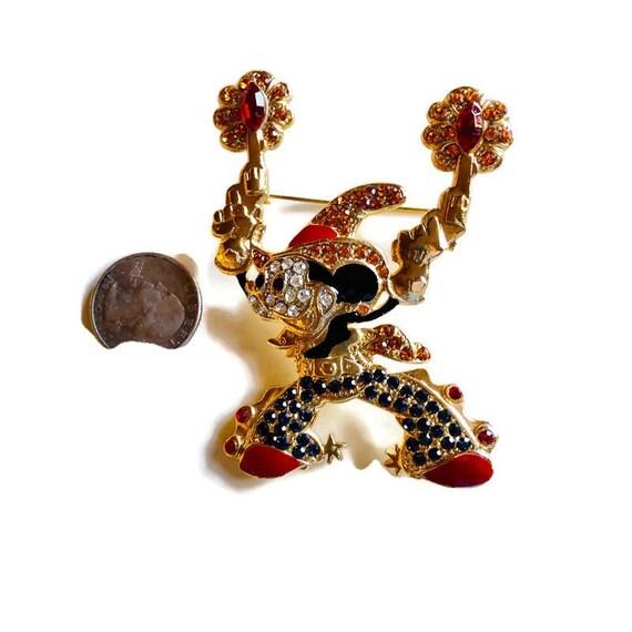 Large Disney Thailand Mickey Mouse Rhinestone Cow… - image 4