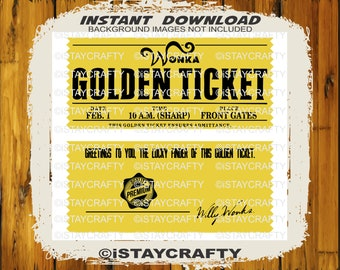 graphic relating to Wonka Golden Ticket Printable identify Wonka golden ticket Etsy