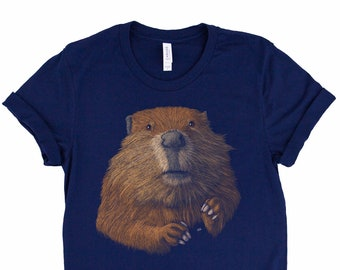 Funny Pet Shirt Beaver Mom Beaver Gift Funny Animal tee Beaver Hoodie  Youth Shirt  Unisex T-shirt