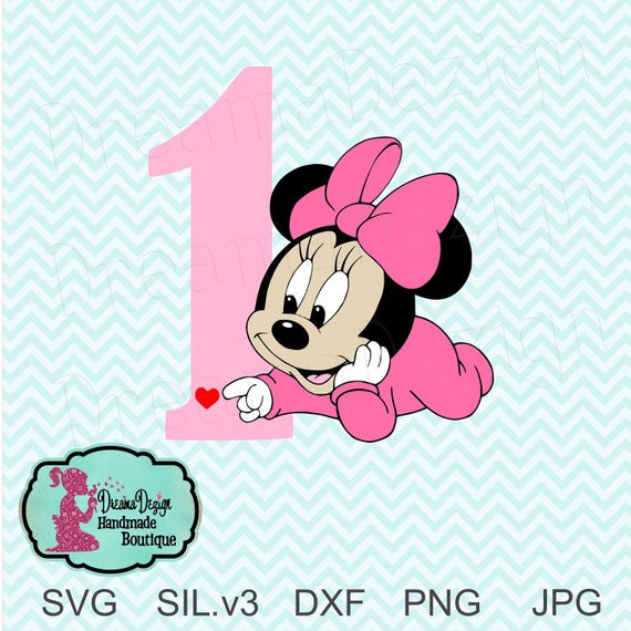 Minnie Mouse 1st Birthday.Baby Minnie Mouse 1st Birthday Svg Baby Minnie Mouse Disney Inspired Clipart Baby Minnie Birthday One Minnie Theme Instant Download
