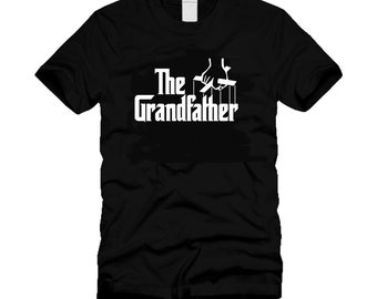 3ce551bfdc3e The Grandfather Funny Movie Parody Godfather Cool Black T-Shirt