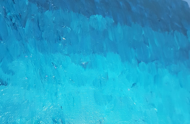 Crystalline Shores abstract painting ocean painting sea painting waves painting