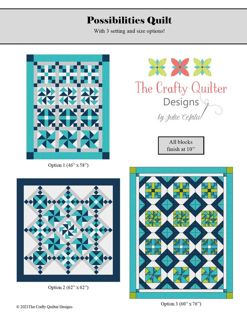 Possibilities PDF Quilt Pattern image 1