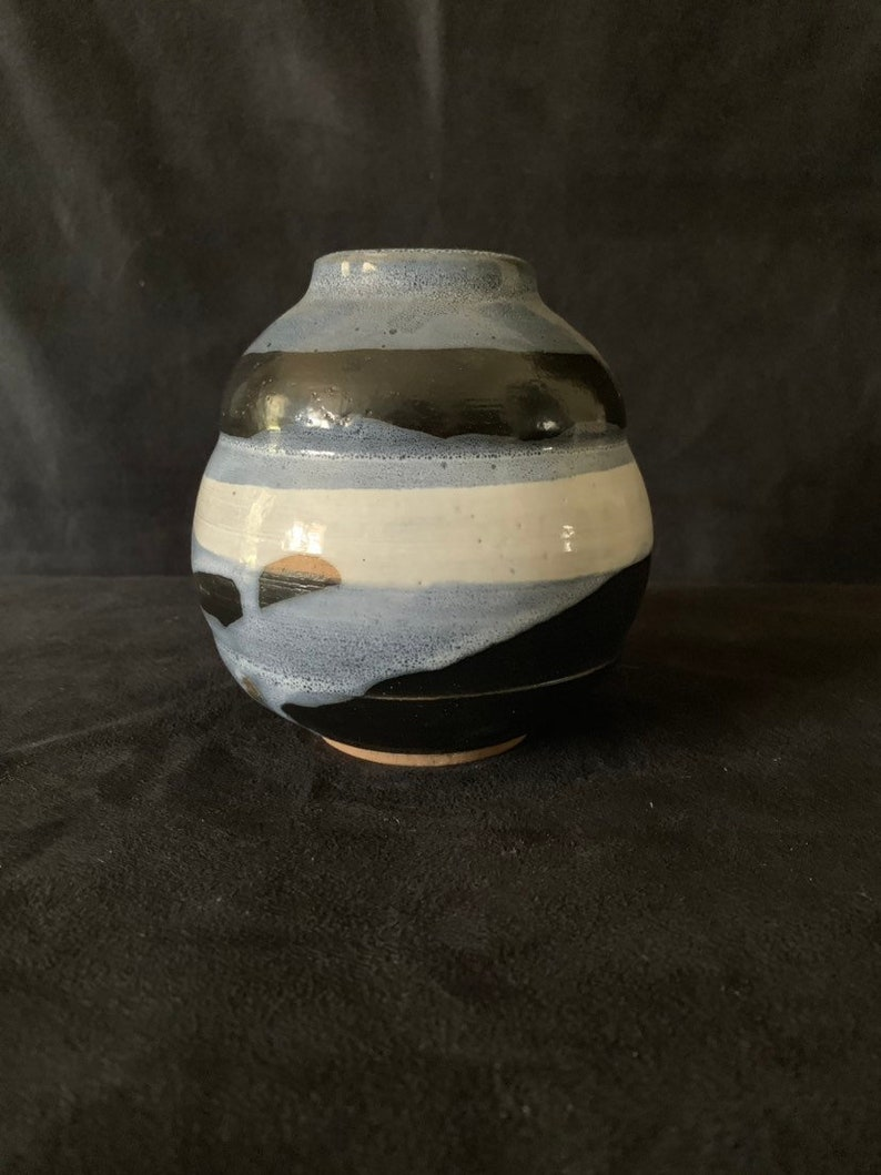 Studio Pottery Bud Vase by Listed Ceramicist Walter Yovaish