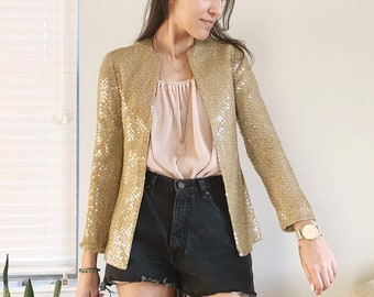 ed9be91fabf98 Gold sequin jacket