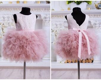 4bf0f3e60cd Light Pink Flower Girl Dress
