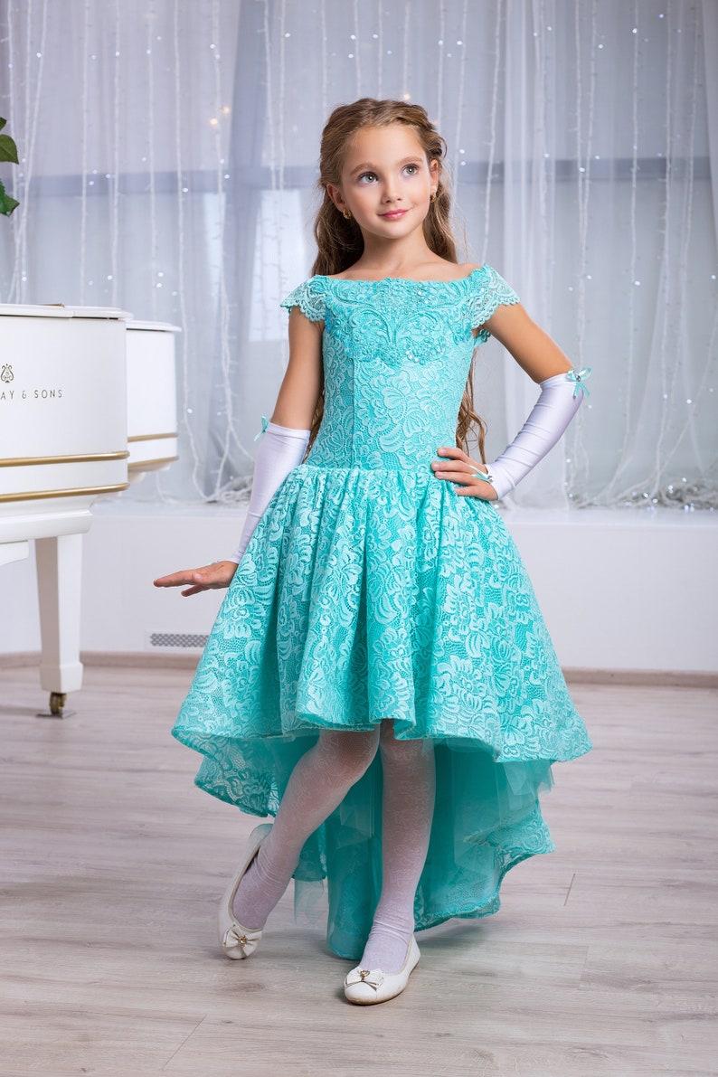 Navy Lace Girl Dress Long Sleeve Flower Girl Dress Baby Girls Long Sleeve Navy Dress Girl Lace Dress Long Sleeve Flower Girl Dress