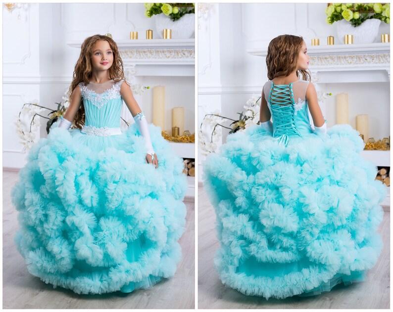 85062ac73e90 Turquoise Dress Girl Turquoise Girl Dresses Turquoise | Etsy